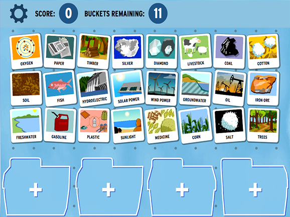 Sortify Natural Resources  GameUp  BrainPOP